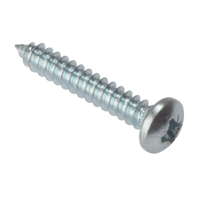 ForgeFix Self-Tapping Screw Pozi Compatible Pan Head ZP 1/2in x 8 Box 200