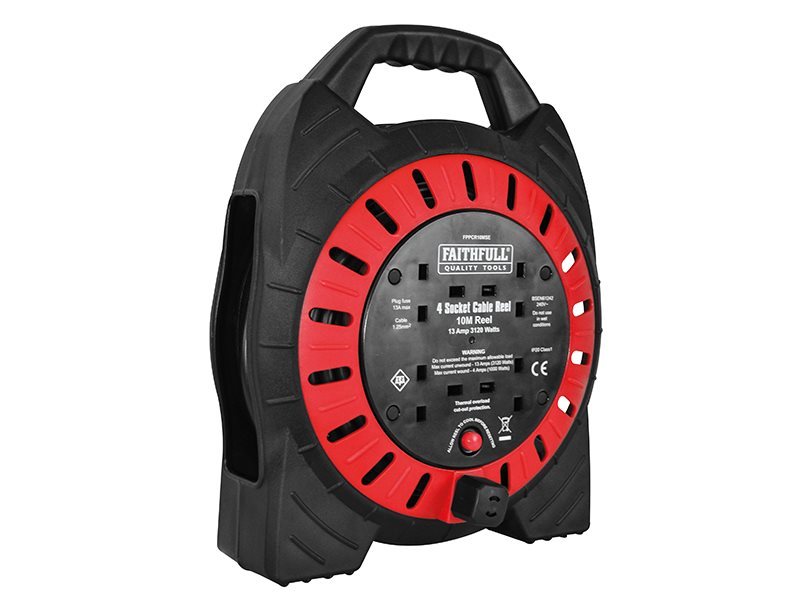 Faithfull Power Plus Semi-Enclosed Cable Reel