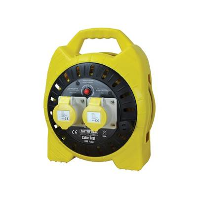 Faithfull Power Plus Semi-Enclosed Cable Reel 110V 16A