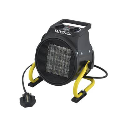 Faithfull Power Plus Ceramic Fan Heater 2kW 240V