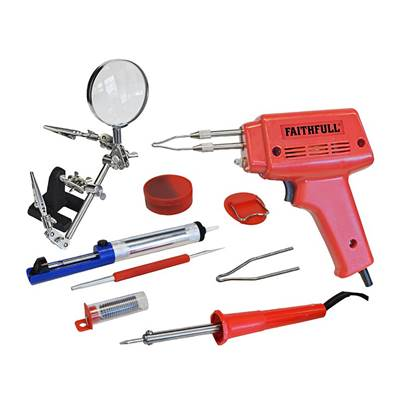 Faithfull Power Plus SGKP Soldering Gun 100W & Iron Kit 30W 240V