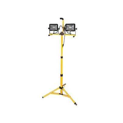 Faithfull Power Plus SMD LED Twin Head Tripod Site Light 2 x 1,800 Lumens