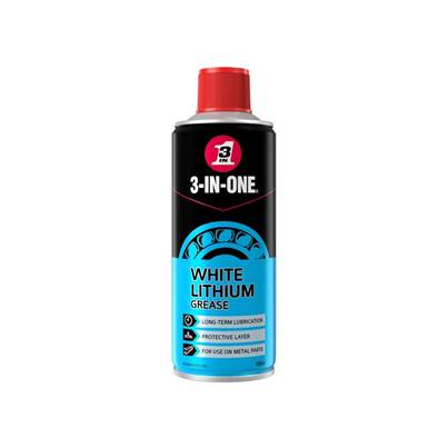 3-IN-ONE White Lithium Spray Grease 400ml