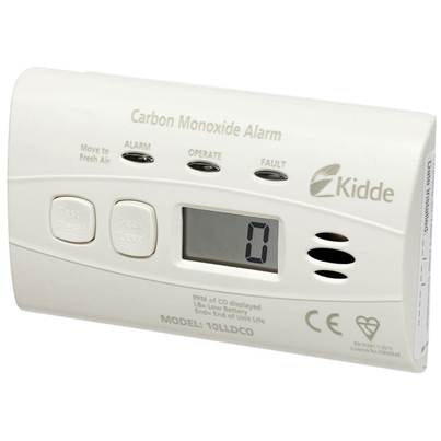 Kidde 10LLDCO 10 Year Sealed Battery Digital Carbon Monoxide Alarm