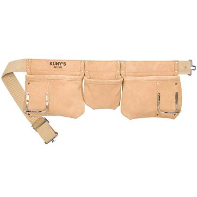 Kuny's AP-1300 Carpenter's Apron 5 Pocket Suede Leather