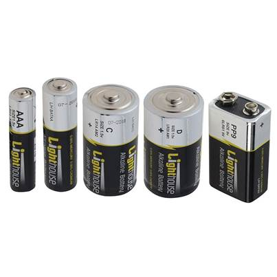 Lighthouse Alkaline Batteries