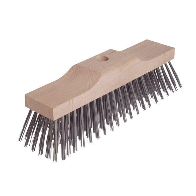 Lessmann Broom Head Raised Wooden Stock 6 Row 300mm x 70mm