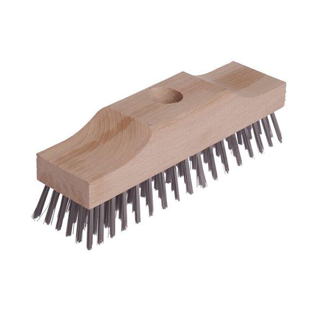 Lessmann Broom Head Raised Wooden Stock 6 Row 220mm x 60mm