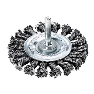 Lessmann Knotted Wheel Brush with Shank