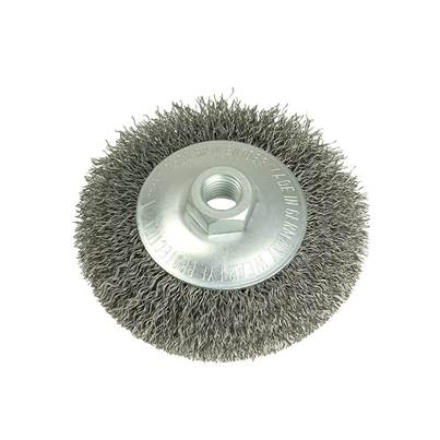 Lessmann Conical Bevel Brush 100mm x M14 Bore, 0.35 Steel Wire
