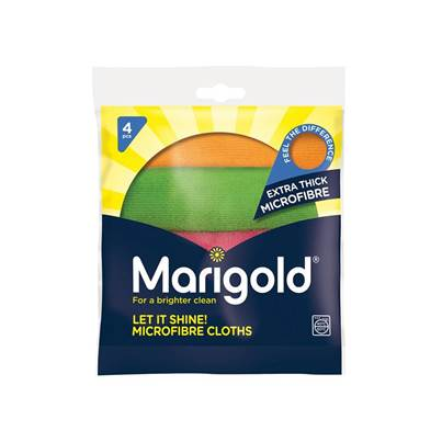 Marigold Let It Shine! Microfibre Cloths x 4 (Box 5)