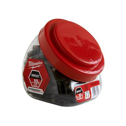 Milwaukee Power Tools SHOCKWAVE™ Impact Rated Magnetic Bit Holder (Jar 100 Pieces)
