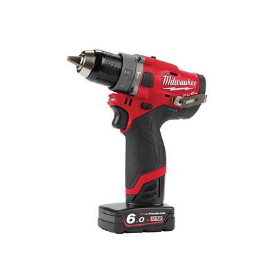Milwaukee Power Tools M12 FPD-602X FUEL™ Sub Compact Percussion Drill 12V 2 x 6.0Ah Li-ion