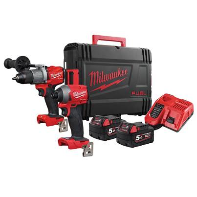 Milwaukee Power Tools M18 FPP2A2  FUEL™ Gen 3 Twin Pack 18V 2 x 5.0Ah Li-ion