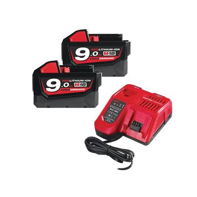 Milwaukee Power Tools M18 NRG-902 Energy Pack 18V 2 x 9.0Ah Li-ion