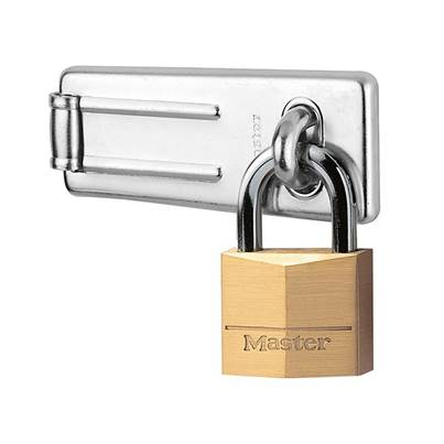 Master Lock Hasp 89mm + Solid Brass Padlock 40mm
