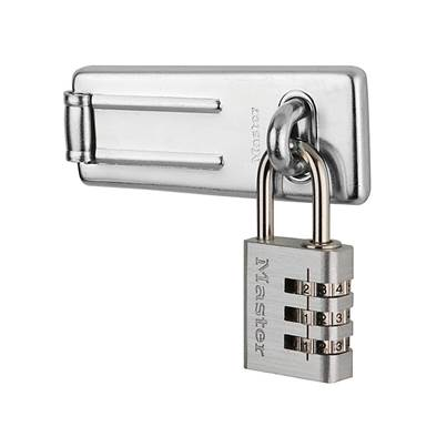 Master Lock Hasp 89mm + 3-Digit Combination Padlock 30mm