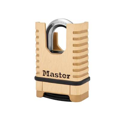 Master Lock Excell™ Closed Shackle Brass Combination Padlock 58mm