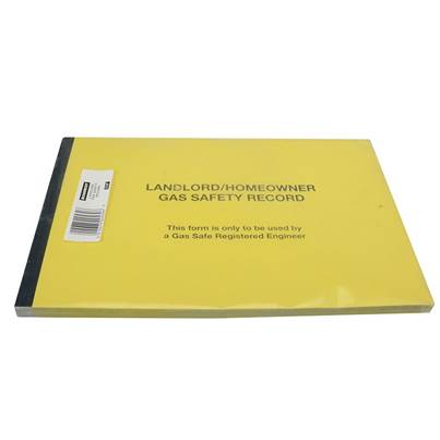 Monument 532P Gas Safe® Landlords Gas Safety Record Pad of 50