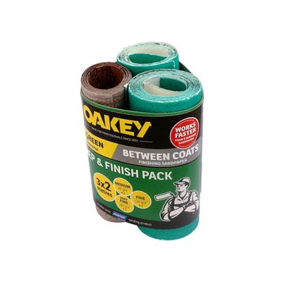 Oakey Prep & Finish Assorted 115mm x 2m (Pack 3)