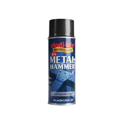 PlastiKote Metal Paint Hammer Spray Black 400ml