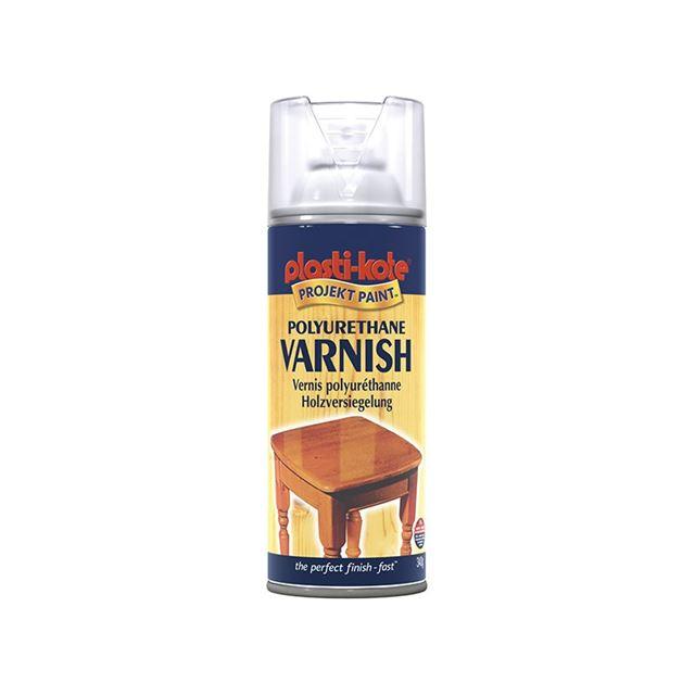 PlastiKote Varnish Spray Clear Gloss 400ml