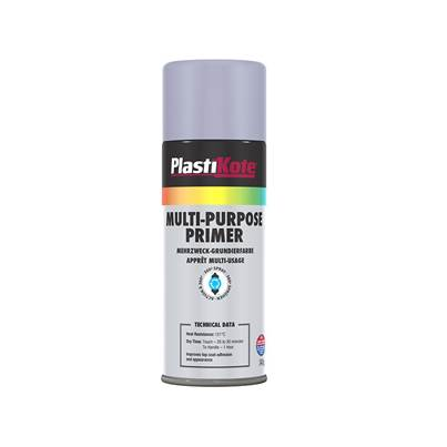 PlastiKote Multi Purpose Enamel Spray Grey Primer 400ml