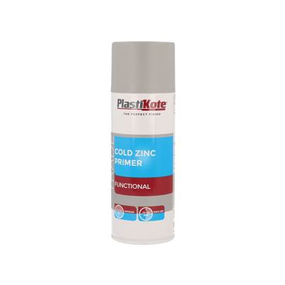 PlastiKote Trade Cold Zinc Spray Primer 400ml
