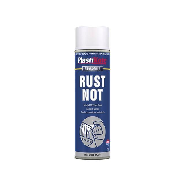 PlastiKote Rust Not Spray Matt White 500ml