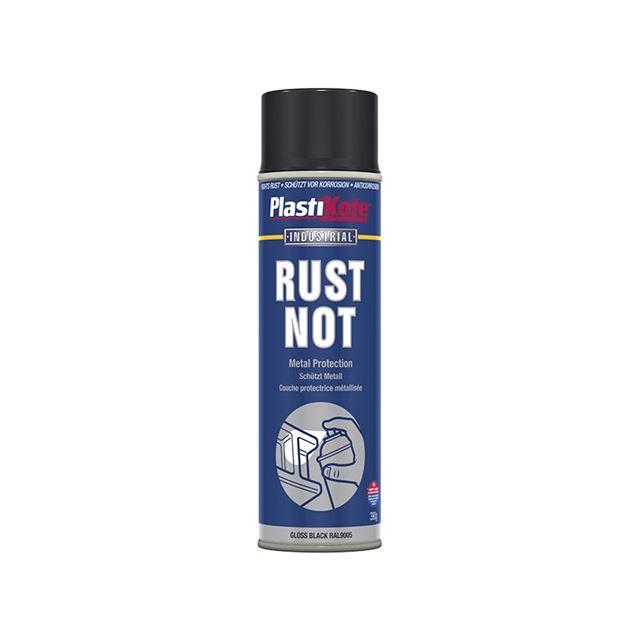 PlastiKote Rust Not Spray Gloss Black 500ml
