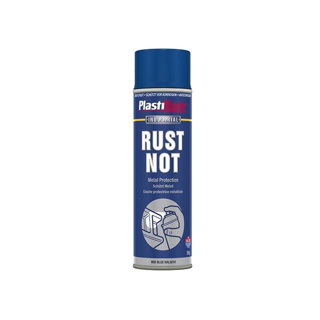 PlastiKote Rust Not Spray Matt Midnight Blue 500ml