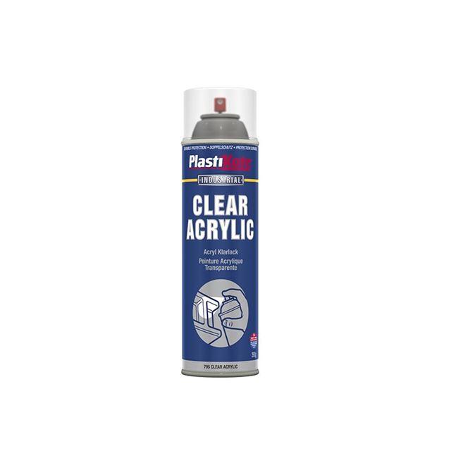 PlastiKote Industrial Spray Clear Acrylic 500ml