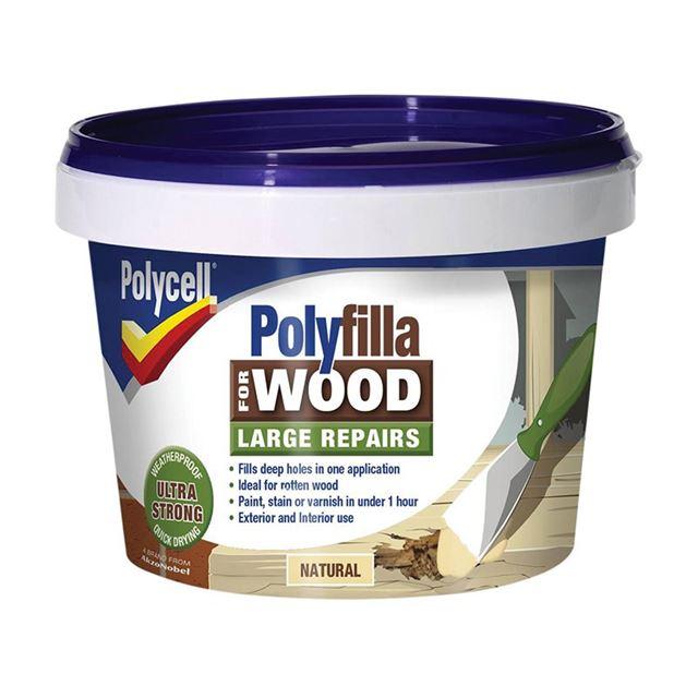 Polycell Polyfilla 2 Part Wood Filler Natural 500g