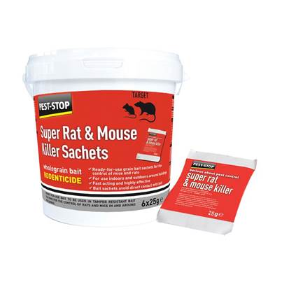 Pest-Stop (Pelsis Group) Super Rat & Mouse Killer Sachets