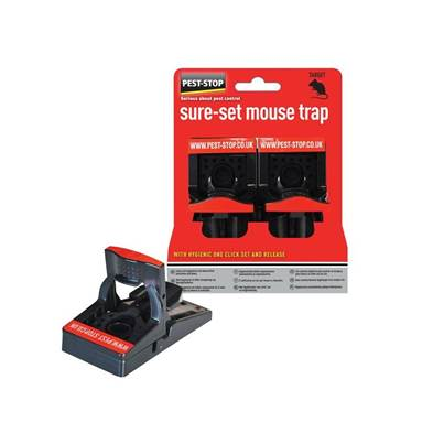 Pest-Stop (Pelsis Group) Sure-Set Mouse Trap (Twin Pack)