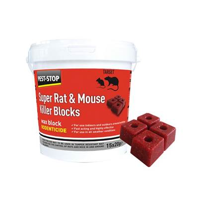 Pest-Stop (Pelsis Group) Super Rat & Mouse Killer Wax Blocks