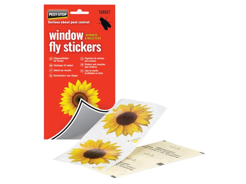 Pest-Stop (Pelsis Group) Window Fly Stickers (Pack 4)