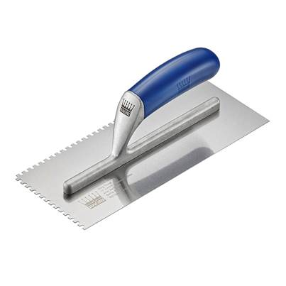 Ragni R319-4 Tiler's Trowel U 4mm Notches Edge Plastic Handle 11 x 4.3/4in