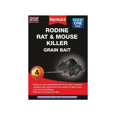 Rentokil Rodine Rat & Mouse Killer Grain Bait