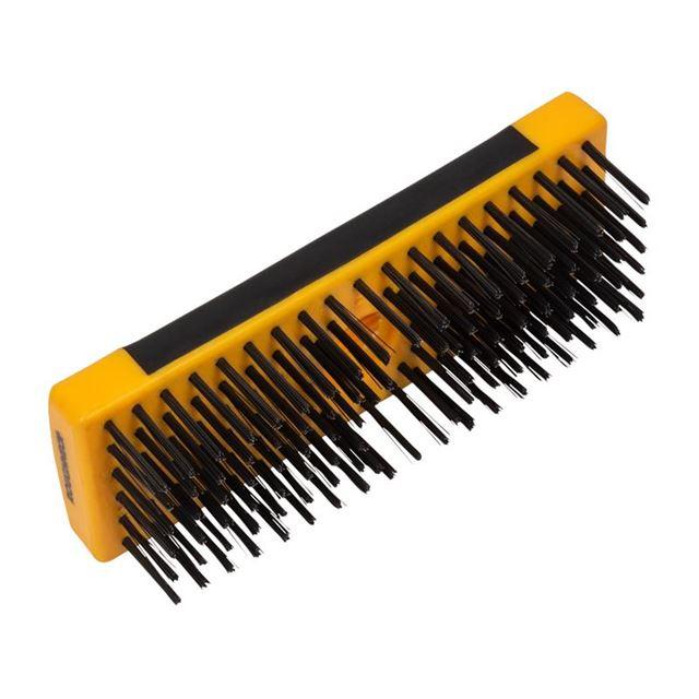 Roughneck Heavy-Duty Scrub Brush Soft Grip 200mm (8in) NO Handle