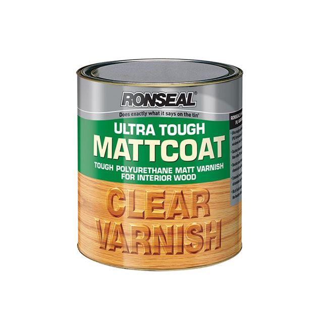 Ronseal Ultra Tough Internal Clear Mattcoat Varnish 750ml