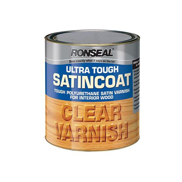 Ronseal Ultra Tough Internal Clear Satincoat Varnish 250ml