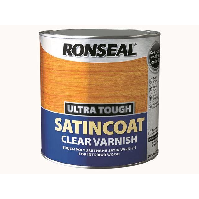 Ronseal Ultra Tough Internal Clear Satincoat Varnish 2.5 litre
