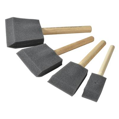 Rustins Foam Brush Set, 4 Piece
