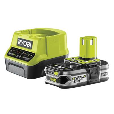 Ryobi RC18120-115 ONE+ Compact Charger 18V + 1 x 18V 1.5Ah Li-ion Battery