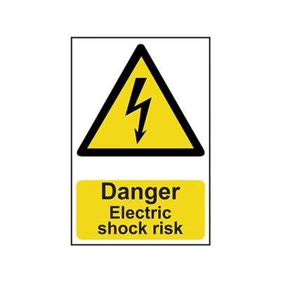 Scan Danger Electric Shock Risk - PVC 200 x 300mm