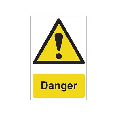 Scan Danger - PVC 200 x 300mm