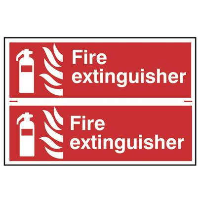 Scan Fire Extinguisher - PVC 300 x 100mm