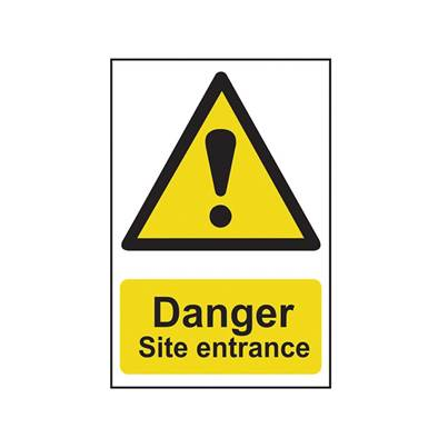 Scan Danger Site Entrance - PVC 400 x 600mm