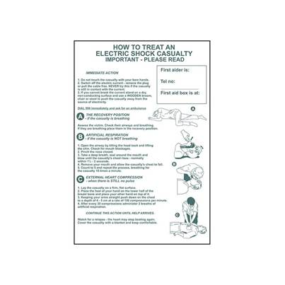 Scan How To Treat An Electric Shock Casualty - PVC 400 x 600mm